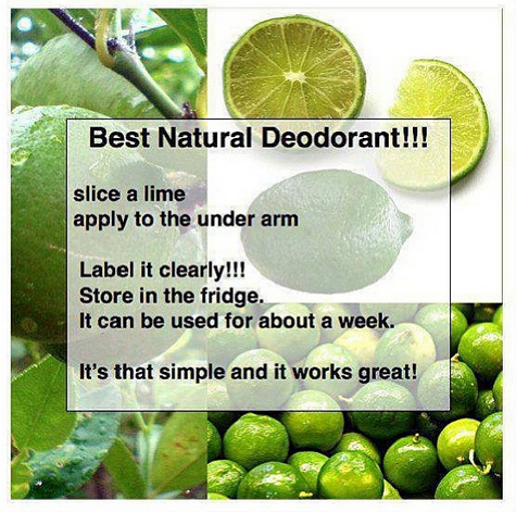 Natural Lime Deo -- what inspired it all