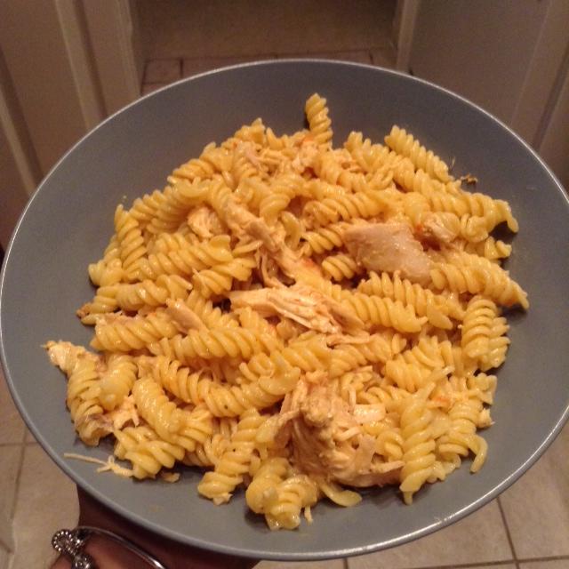 creamy shredded chicken rotini