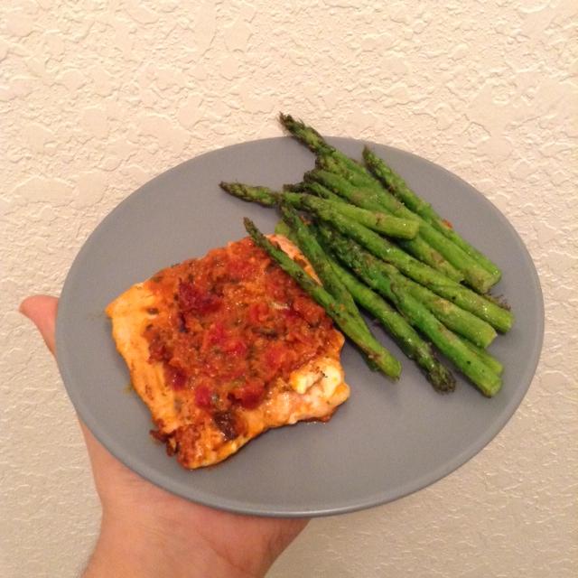 tomato pesto salmon 2